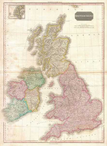 1818, Pinkerton Map of the British Isles, England, Scotland, Ireland, John Pinkerton, 1758 ? 1826, Scottish antiquarian, cartographer, UK