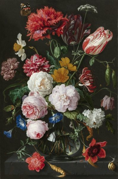 Still Life with Flowers in a Glass Vase, Jan Davidsz. de Heem, 1650 - 1683