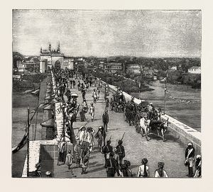 Afzul Gunj bridge, Prince Albert Victor at Hyderabad, Telangana state, in nineteenth