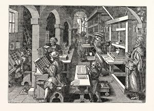 Ancient View of a Dutch Printing-Office