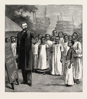 ARCHDEACON MAPLE'S NATIVE SINGING CLASS AT LUKOMA UGANDA AFRICA 1889