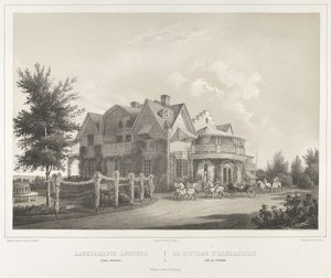 Le Cottage D'Alexandrie pres de Peterof, from the series Vues pittoresques des