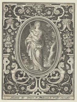 Faith, from the Cardinal Virtues, 1648–56, Engraving, second state of two., Shee