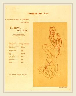 after Auguste Rodin, Le Repas du lion, 1897, collotype in red on wove paper