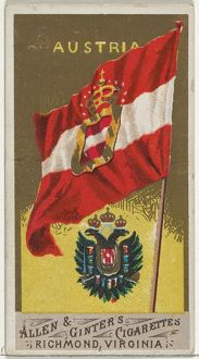 Austria, from Flags of All Nations, Series 1 (N9) for Allen & Ginter Cigarettes Brands
