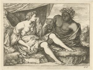 Bacchus and Ariadne, Arnold Houbraken, Anonymous, 1700 - 1750