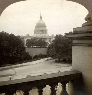 Our beautiful Capitol building from the Congressional Library, Washington, D.C., US
