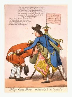 Billy's Raree-Show or John Bull en lighten'd, [England], engraving 1797, Pitt