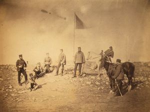 Captain Hall, & group of the 14th, Crimean War, 1853-1856, Roger Fenton historic
