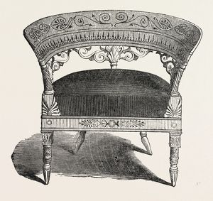 CHAIR, BY JEANSELME, 1851 engraving