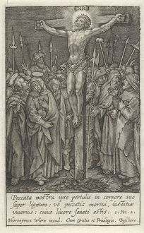 Christ on the cross, Hieronymus Wierix, 1563 - before 1619