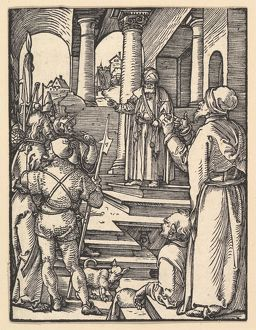 Christ before Pilate, from The Small Passion, ca. 1508, Woodcut, sheet: 5 x 3 7/8 in