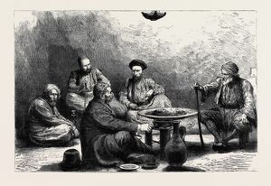 A CHRISTMAS DINNER IN A TURKISH PRISON, CONSTANTINOPLE