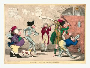 A convention of the not-ables, engraving 1787, Lord North, Edmund Burke, Charles Fox