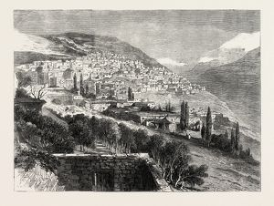 DEIR-EL-KAMR, ON THE SOUTHERN SIDE OF MOUNT LEBANON, DESTROYED BY THE DRUSES, 1860
