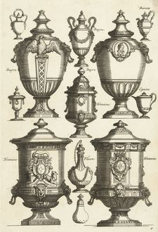 Twelve designs for goldsmiths, Daniel Marot (I), Anonymous, Anonymous, after 1703