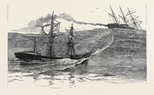 A DISASTER AT SEA: THE S.S. 'PALMYRA' TOWING THE DERELICT BARQUE