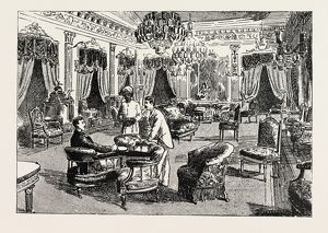 THE DRAWING-ROOM OF THE NIZAM'S PALACE, Prince Albert Victor at Hyderabad, Telangana