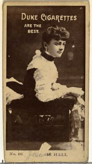 Drawings and Prints, Photograph, Card Number 40, Miss Hall, from the Actors and Actresses