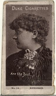 Drawings and Prints, Photograph, Card Number 14, Miss Kingdon, from the Actors