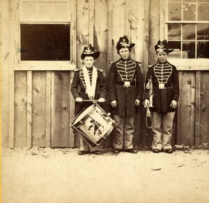 Three drummer boys (now at Ft. Hamilton) who have been in 9 battles of the rebellion