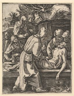 "The Entombment, ca. 1500a€""1534, Engraving; second state of three, Sheet: 5 1/16 A—"