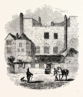 [Exterior Beauchamp Tower from the Parade, c 1845, London, England, engraving 19th