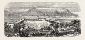 THE FRENCH IN ABYSSINIA: VIEW OF THE FRENCH ENCAMPMENT AT KOUFFITH, 1865