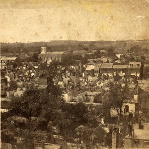 General view from market house, (looking south-east), US, USA, America, Vintage