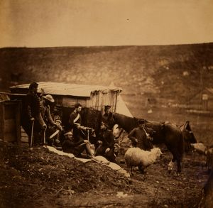 Group of 4th Dragoon Guards, Crimean War, 1853-1856, Roger Fenton historic war campaign