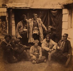 Group of Croats, Crimean War, 1853-1856, Roger Fenton historic war campaign photo