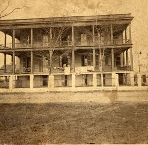 Hospital no. 7, Beaufort, S.C., during Civil War, US, USA, America, Vintage photography