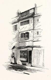 House Booth Street, Spitaltields, London, England, engraving 19th century, Britain, UK