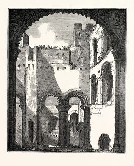 Interior of the remains of the Upper Story of Rochester Castle