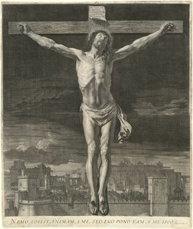 Jean Morin, after Philippe de Champaigne, Christ Dying on the Cross, French, c. 1600-1650