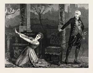 LA TOSCA AT THE GARRICK THEATRE, THE SCENE BETWEEN LA TOSCA AND THE GOVERNOR OF ST