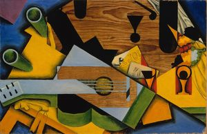 Still Life with a Guitar, 1913, Oil on canvas, 26 x 39 1/2 in. (66 x 100.3 cm), Paintings