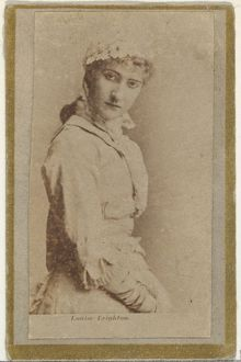 Louise Leighton, from the Actresses and Celebrities series (N60, Type 2) promoting