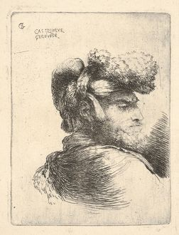 (Male Head), Etching, plate: 4 1/4 x 3 1/8 in