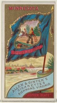Minnesota, from Flags of the States and Territories (N11) for Allen & Ginter Cigarettes