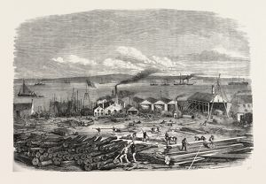 MR. LAIRD'S SHIP-BUILDING YARD, LIVERPOOL, UK, 1856