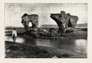 OLD RUINS OF ROMAN BRIDGE AT TANGIER MOROCCO 1889