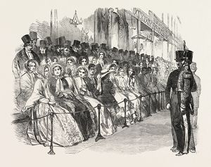 OPENING OF THE GREAT EXHIBITION, SKETCH IN THE NAVE, CRYSTAL PALACE, HYDE PARK, LONDON