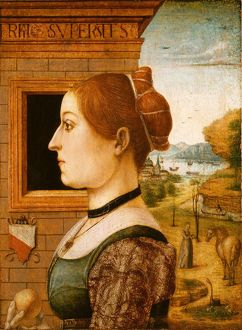 Portrait of a Woman, possibly Ginevra d'Antonio Lupari Gozzadini, 1494?, Tempera