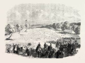 RAGGED SCHOOLS FESTIVAL AT MUSWELL HILL, 1860 engraving