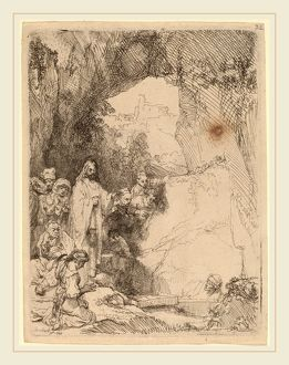 Rembrandt van Rijn (Dutch, 1606-1669), The Raising of Lazarus: Small Plate, 1642, etching