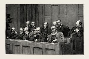 Sketches in the Royal Courts of Justice, a special Jury. 1889
