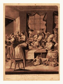 A society of patriotic ladies, at Edenton in North Carolina, en sanguine engraving