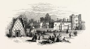 St. James's Palace. Print Hollar, London, England, engraving 19th century, Britain