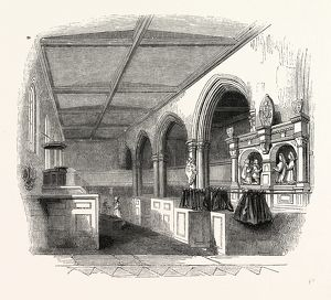 St. Peter's Chapel, London, England, engraving 19th century, Britain, UK